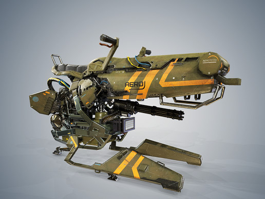 AAA PBR Hover Bike Version 2