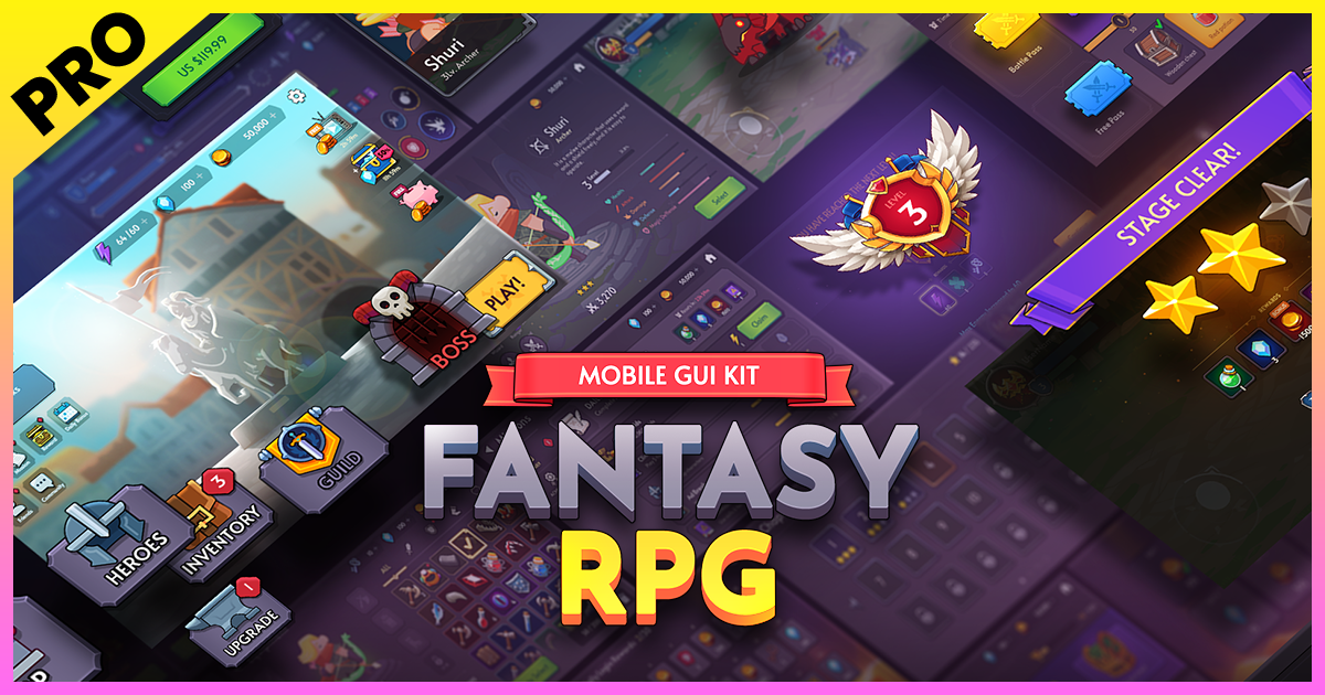 GUI PRO Kit - Fantasy RPG