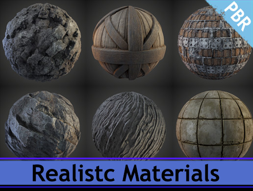 Realistic materials pack