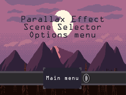 Main Menu with Parallax Effect FREE - Asset Store