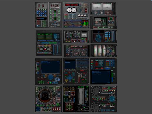 Gauges and control panels set