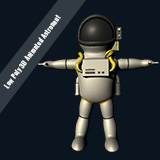Low Poly 3D Animated Astronaut