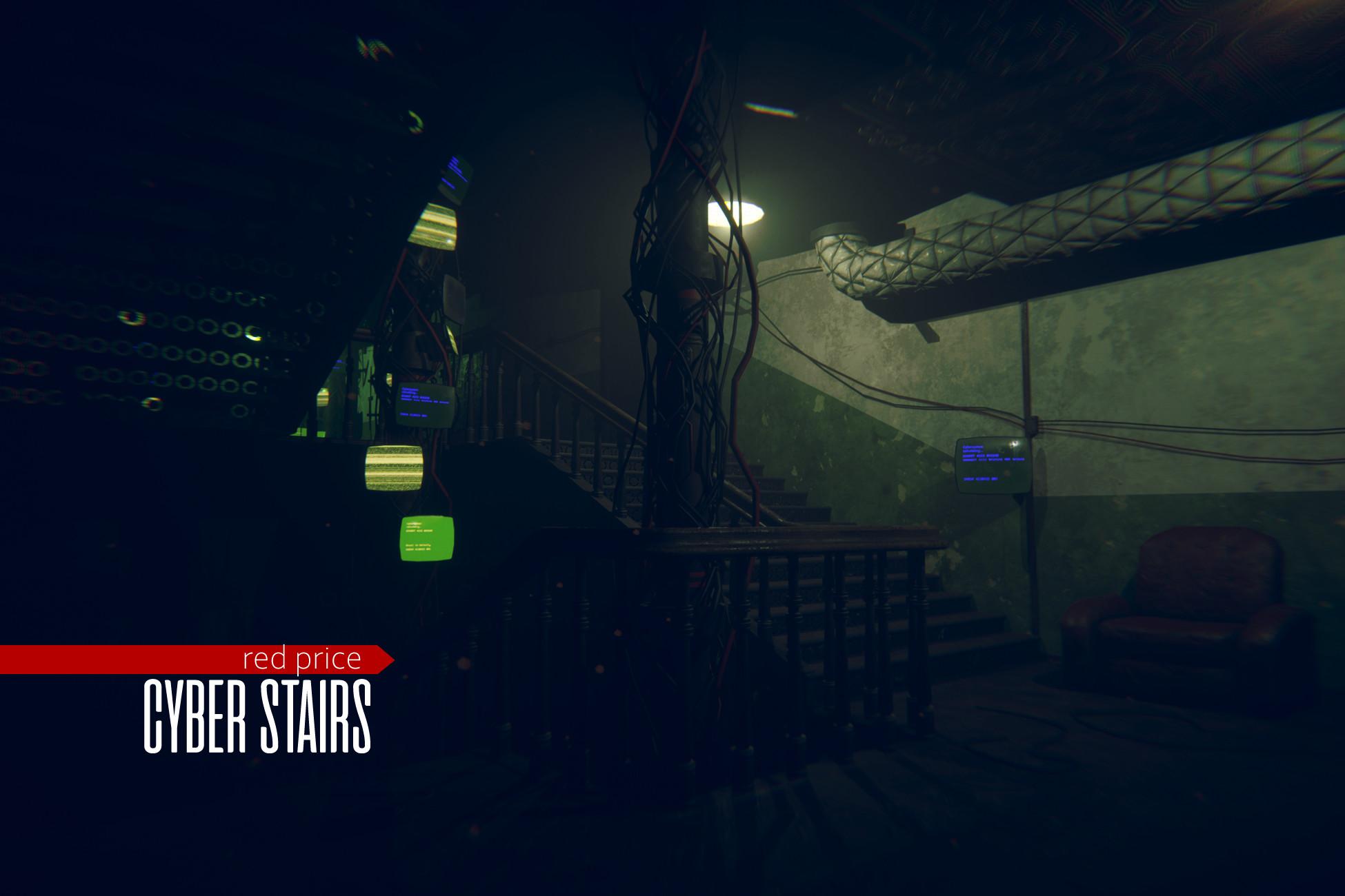 cyberpunk - Cyber Stairs