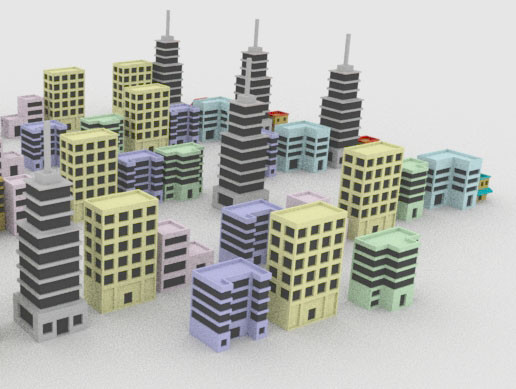 Urban City low poly pack