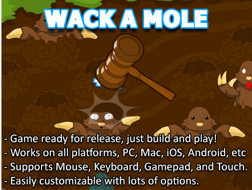 Whack A Mole Game Template