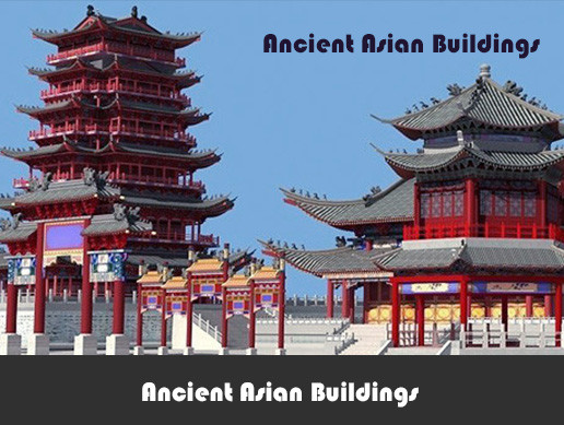 Ancient Asian buildings Pack