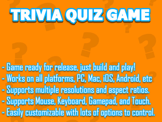 Trivia Quiz Game Template