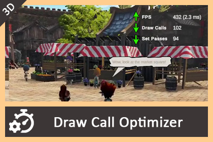 Draw Call Optimizer - Just One Click