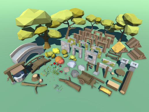 Forest Low Poly Pack 1 - Asset Store