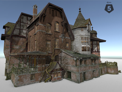 Abandoned Mansion Exterior - Asset Store