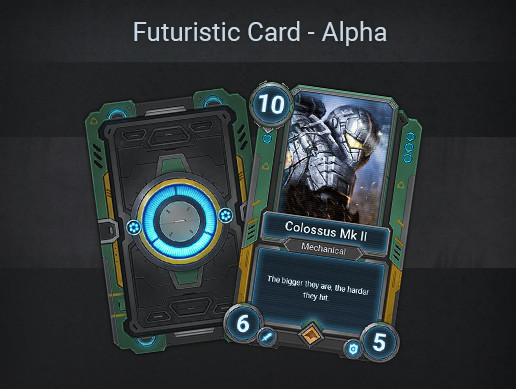 Futuristic Card Template - Alpha