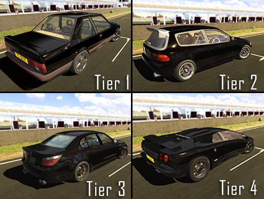 4 Cars Pack (Best of Tiers 1/2/3/4)