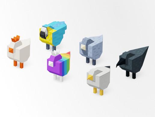 3D Birds Prototype Pack