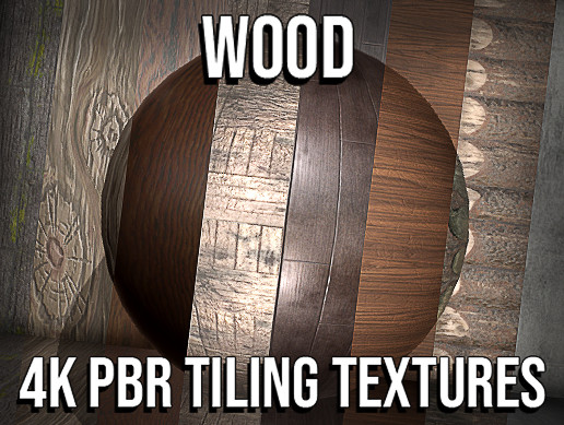 22 Wood 4K PBR Tiling Textures Collection