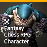 Fantasy Chess RPG Character - Sea Despot