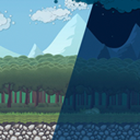 2D Forest Tileset Pack Toon Style