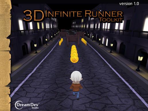 پروژه کامل یونیتی 3D Infinite Runner Toolkit v1.3