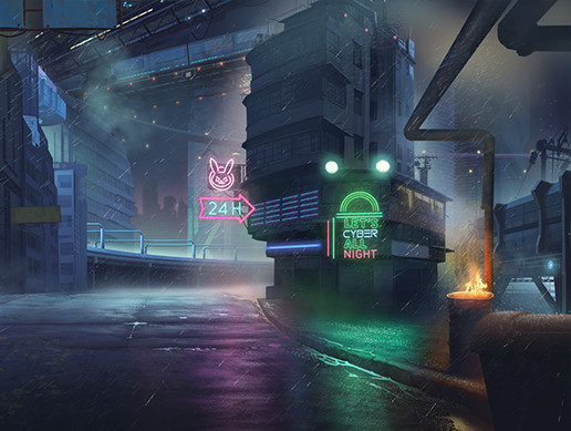 2D Cyber City Pack - Handcrafted Art
