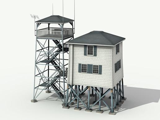 Radio Tower Building - Asset Store
