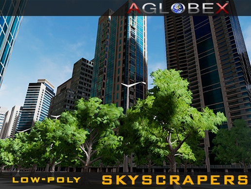 53 Low-poly Skyscrapers (Day & Night)