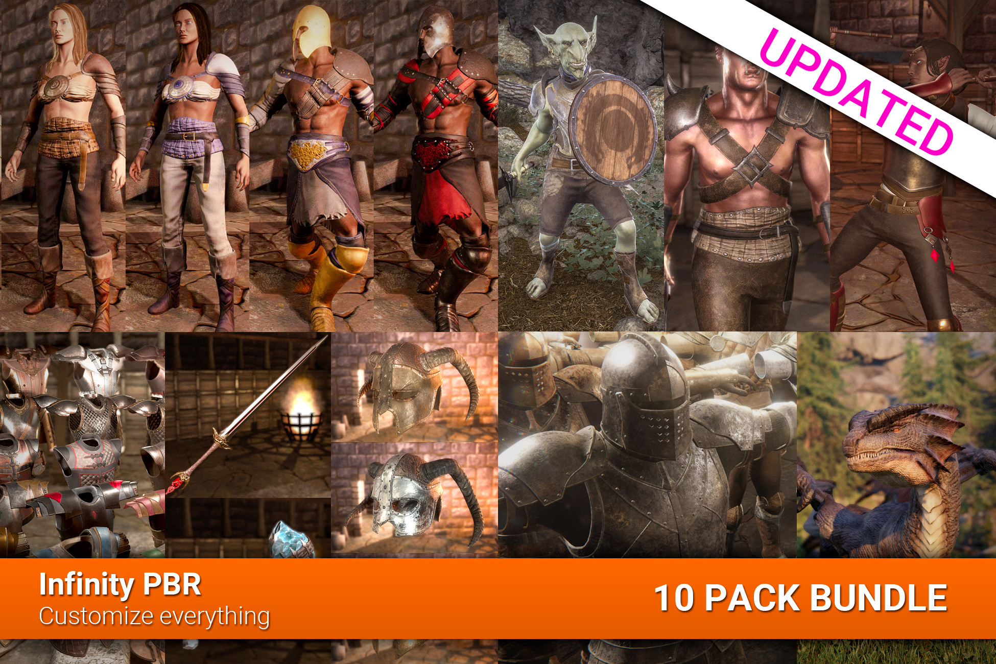 RPG Character Complete Bundle - 10 Pack Bundle!