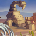 2D Horizontal battle Enviroment_03(SandWorld)