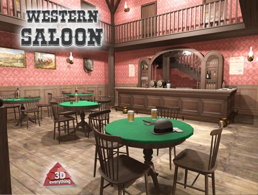 Western Saloon Interior
