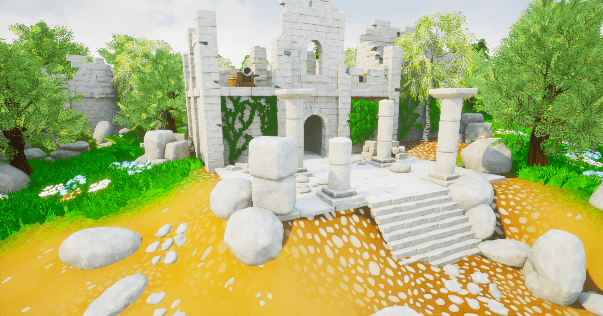 Stylized Ruins Environment