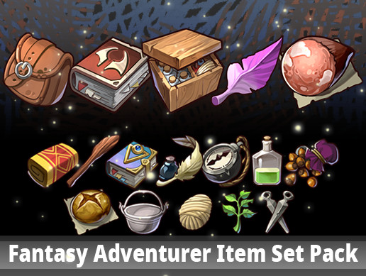 Fantasy Adventurer Item Set Pack
