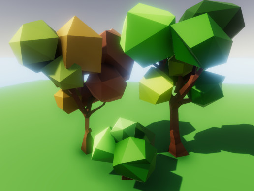 Low Poly Trees - Animated