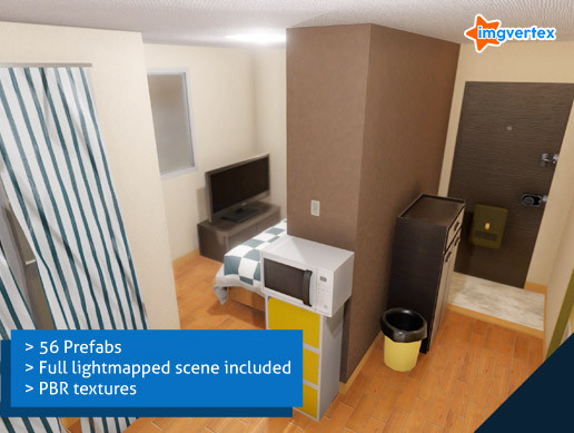 Japanese Apartment PBR pack | Unity AssetStore Price down