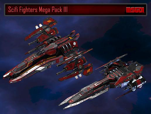 Scifi Fighters Mega Pack III