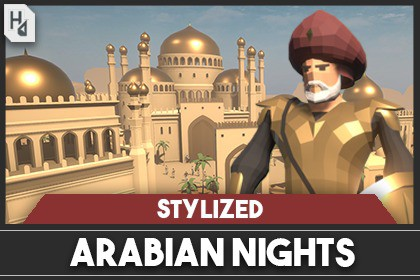 Stylized Arabian Nights City