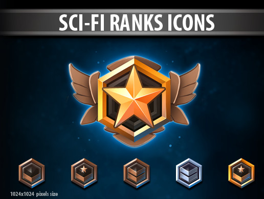 Sci-Fi Ranks Icons