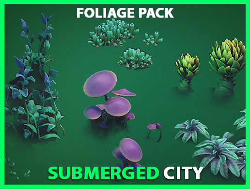 Submerged City Stylized Foliage Set