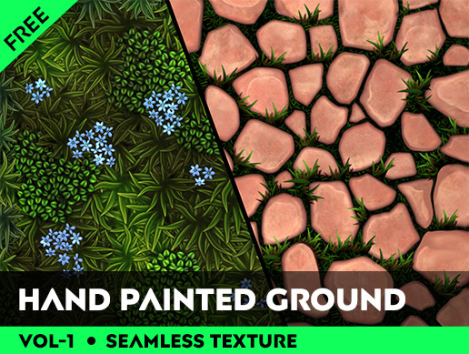 Hand Painted Seamless Ground Texture