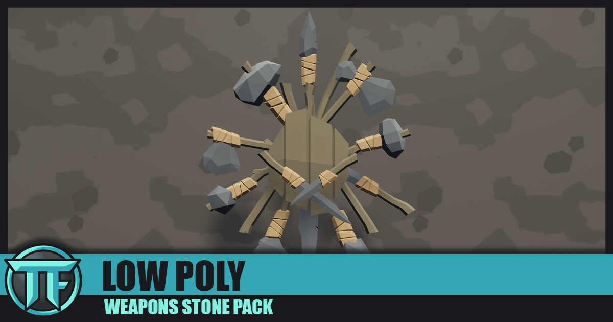 LOW POLY - Weapons Stone Pack