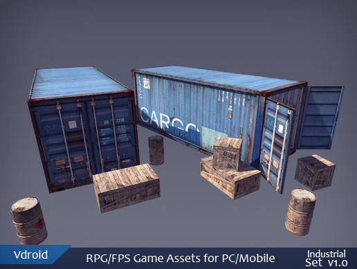 RPG/FPS Game Assets for PC/Mobile (Industrial Set v1.0)