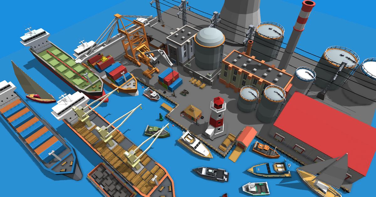Simple Port - Cartoon Assets