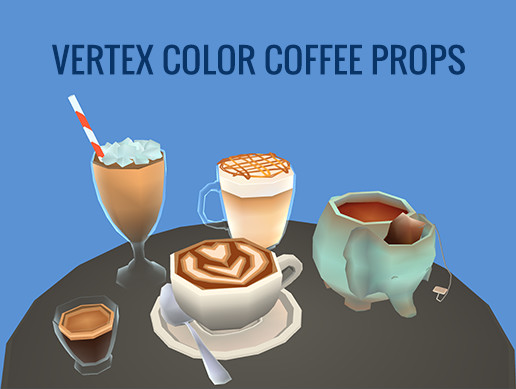 Vertex Color Coffee Props
