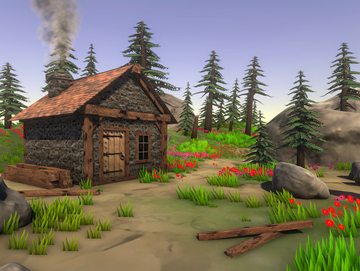 Stylized Forest House