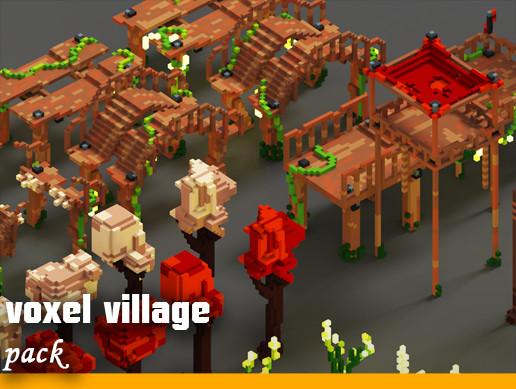 Voxel village ''pack''