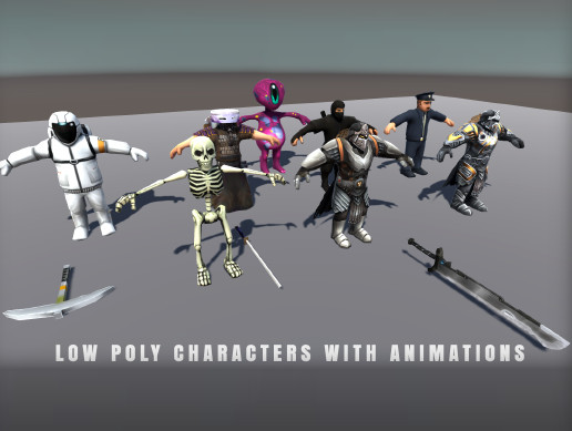 Low Poly Characters Pack Vol1