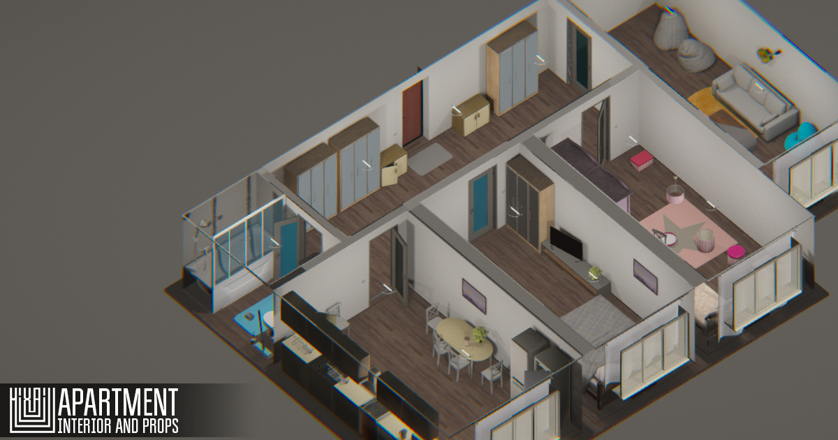 Apartment - interior and props