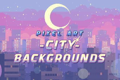 Pixel Art City Backgrounds