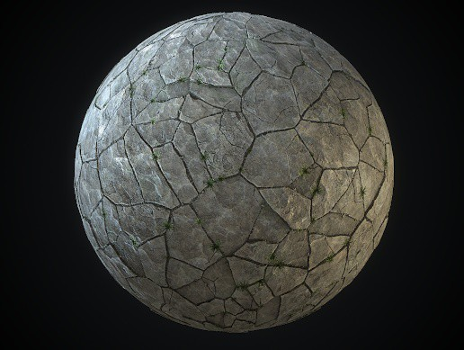 Medieval Voronoy Pavement Tiles 4K PBR