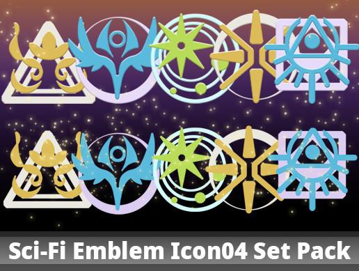 Sci-Fi Emblem Icon04 Set Pack