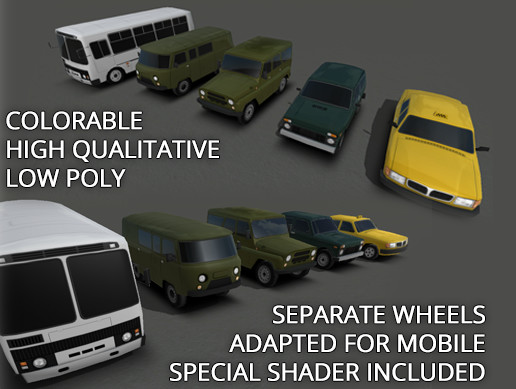 Rune's Low Poly Cars Pack 2
