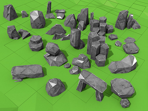 Low-poly Rocks - Full Pack - Asset Store