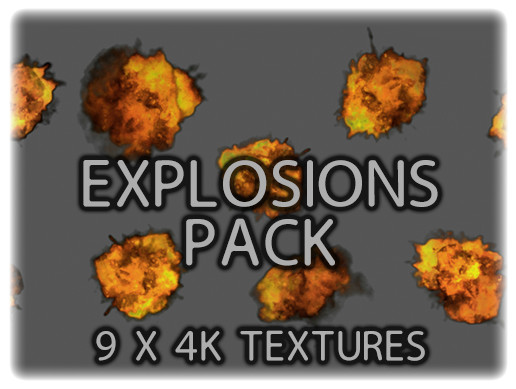 Animated Explosion Texture Pack